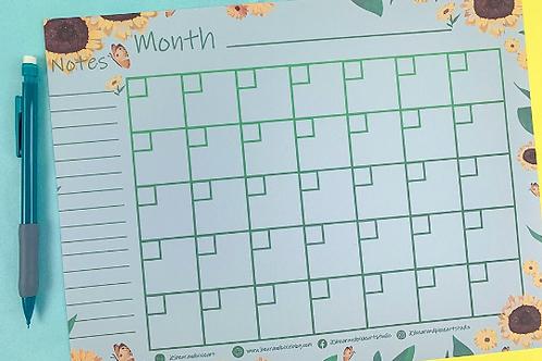 Sunflower Calendar - DIGITAL DOWNLOAD
