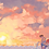 Thumbnail: Sandy the Mermaid Bike Ride at Sunset - 8.5 x 11 inch Print
