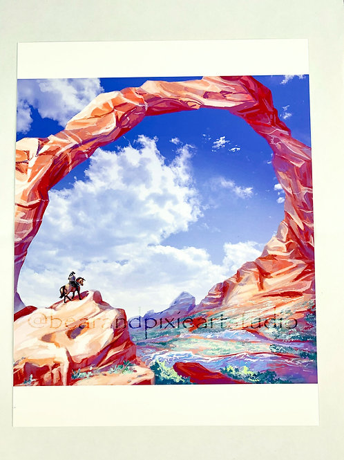 Wild West (Day Version) Art Print 8.5x11