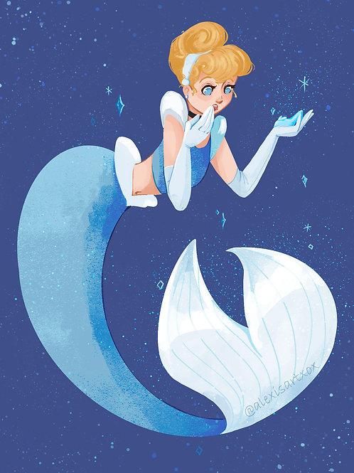 Cinderella Something Blue MerMay 2021 Print