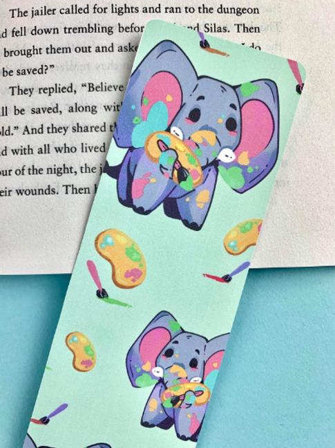 Ellie the Elephant Bookmark  - Cute Bookmark