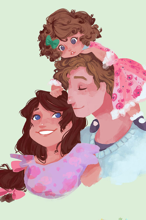 The Perfect Flower Family Art Print