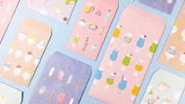 透ける紙加工の夏のぽち袋