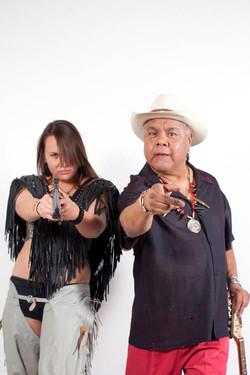 James Luna and Tishla