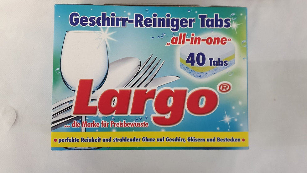 LARGO Geschirr Tabs 40 Stk.