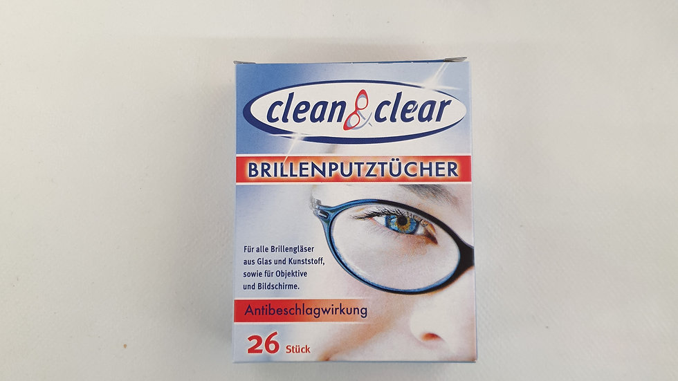 CLEAN&CLEAR Brillenputztücher 26 Stk.