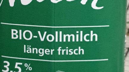 LÄNDLE Milch Bio Vollmilch 3,5% 1L