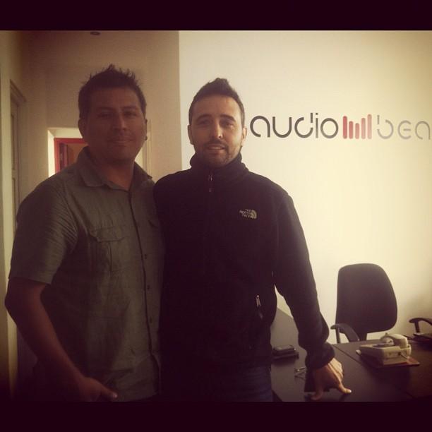 Grabando en Audiobeat con Diego Dibos (Perú )
