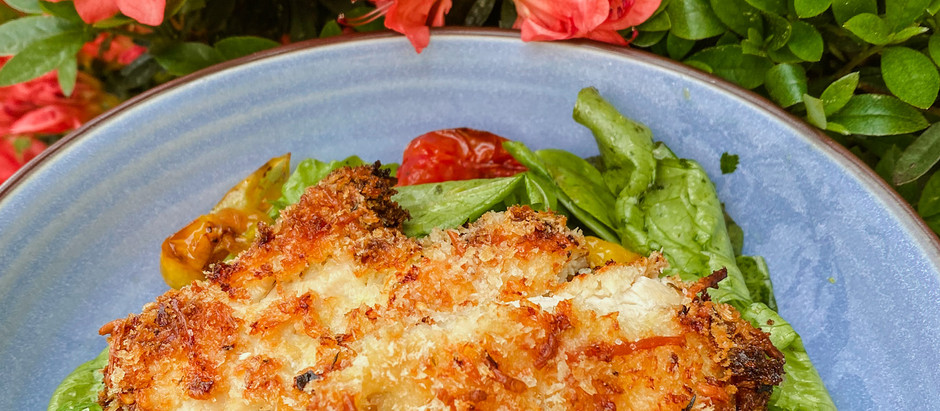 Panko Crusted Chicken with Herbed Lemon Salad