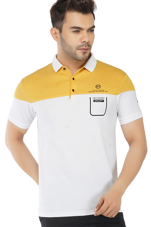 Cut and Sew Mustard Feather Touch Polo