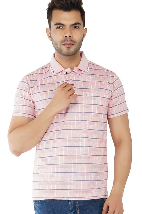 Check Print Merscerised Polo With Pocket