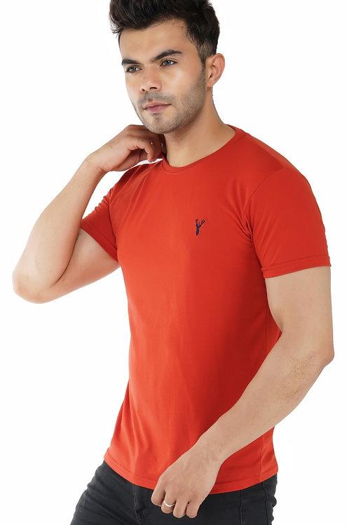 Pro Riders Rust Round Neck T-Shirt