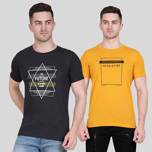 Graphic Tee (Pack of 2 - MD AT)