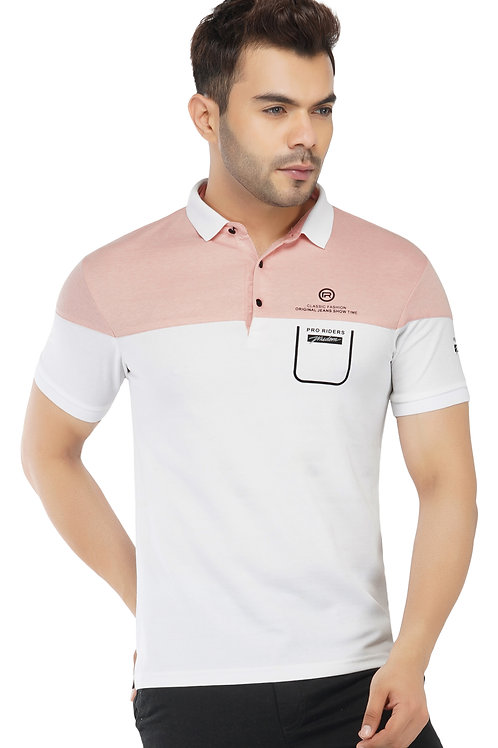 Cut and Sew Pink Feather Touch Polo