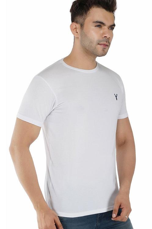 Pro Riders White Round Neck T-Shirt