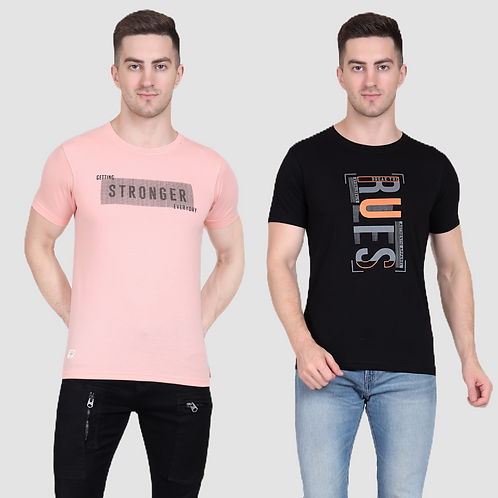 Graphic Tee (Pack of 2 - PK BK)