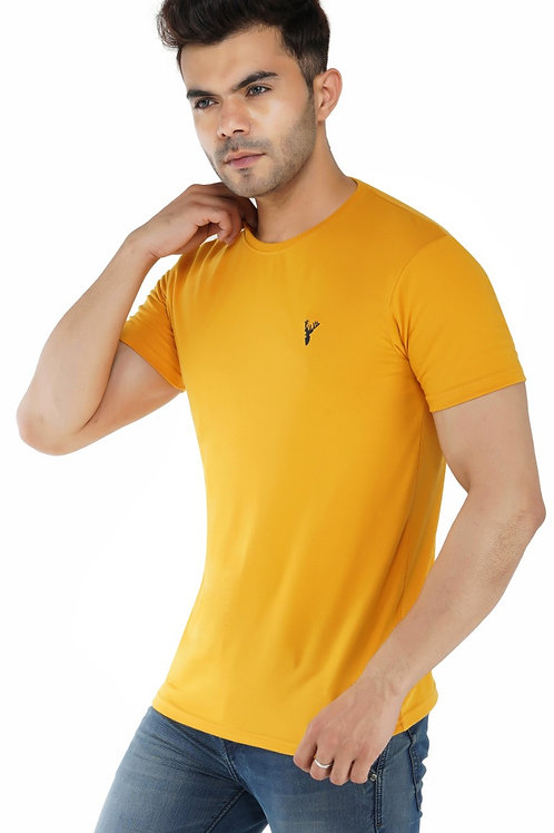 Pro Riders Mustard Round Neck T-Shirt