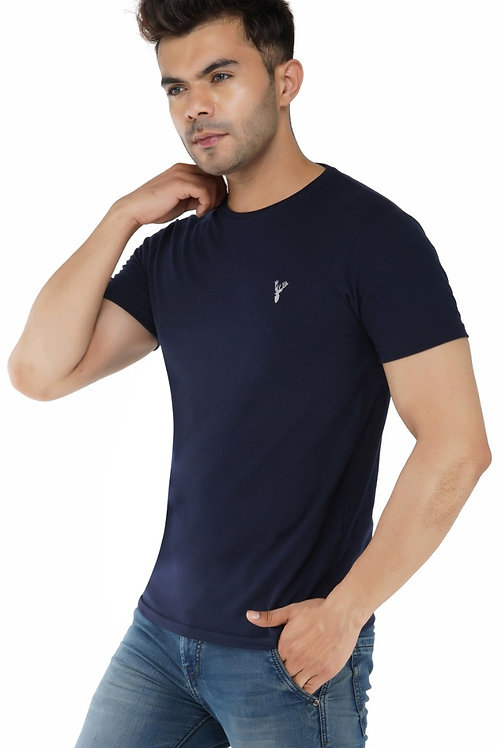 Pro Riders Navy  Round Neck T-Shirt