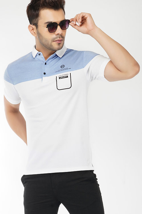 Cut and Sew Sky Feather Touch Polo