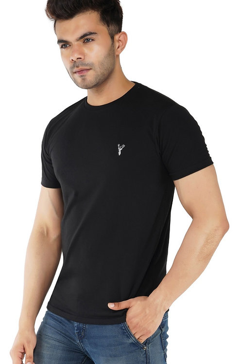 Pro Riders Black Round Neck T-Shirt