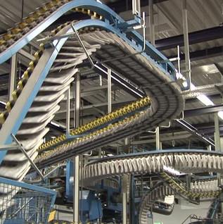 newspaper conveyor belt - made on a belt