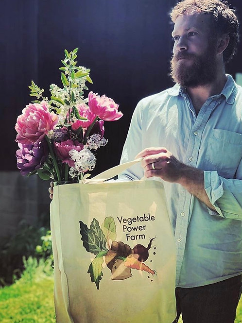 Vegetable Power Farm Tote Bag