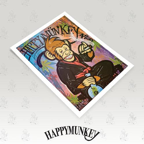 HappyMunkey Art Poster