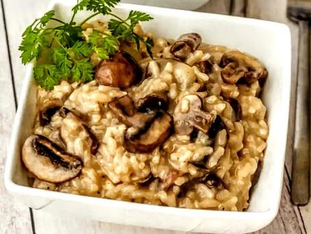 Vegan White Bean Mushroom Risotto Recipe By Chef Josh of the Mediblist