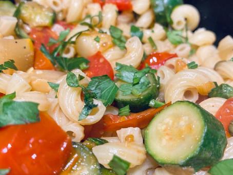 Spring Saute Over Noodles