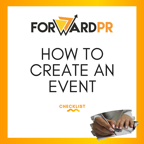HOW TO CREATE AN EVENT - Guide