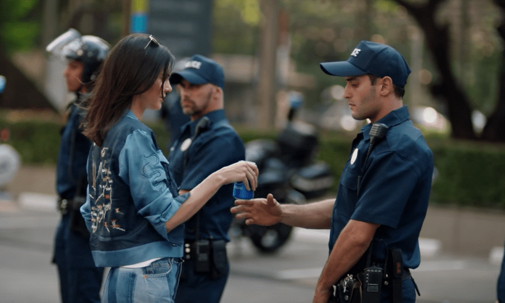 Kendall Jenner 21, in 2017 Pepsi Commercial. Source: Viral Pirate