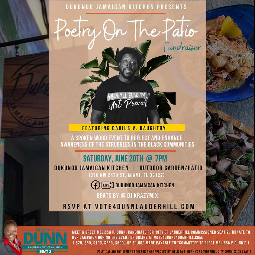 Poetry On The Patio Fundraiser