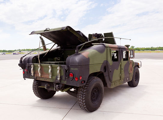 Camouflaged humvee truck at Manassas Air Show