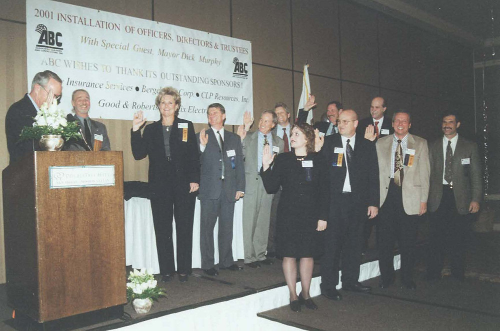 Donna Bechthold sworn in to training trust board in 2001