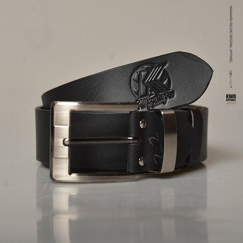 KWR Leather belt black