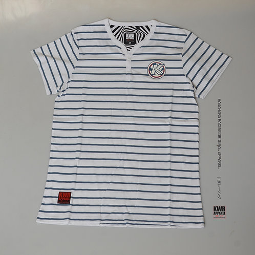 KWH T's 144 Button Striped tees