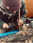 How to make fire with an ax
