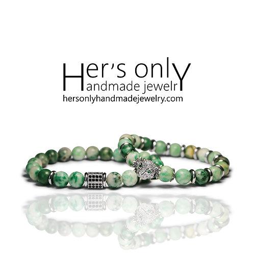 Qinghai Jade Jasper Couple bracelets