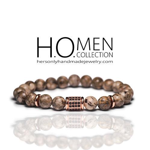 Medical Stone Jasper Men bracelet