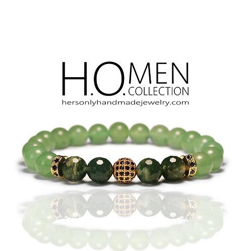 Emerald - Men bracelet