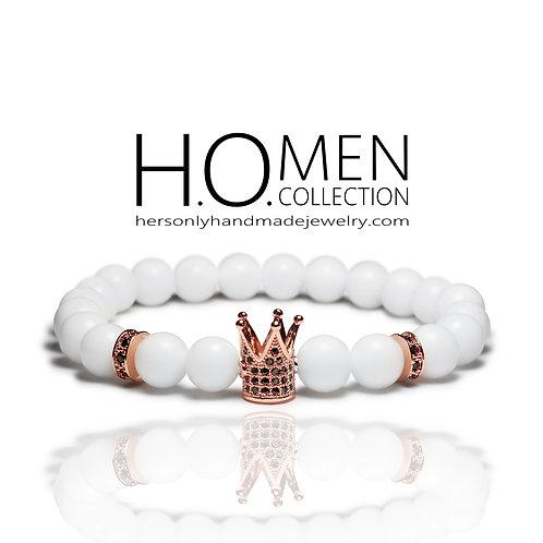 White Rose Men Bracelet