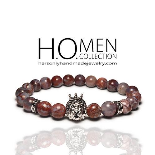 Burgundy Men bracelet