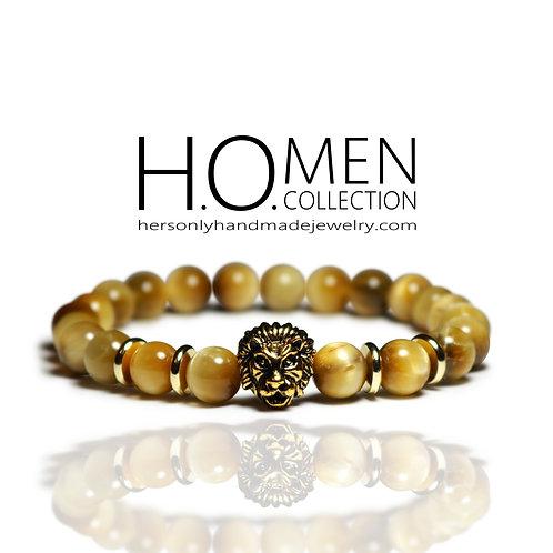 Yellow Leo men bracelet