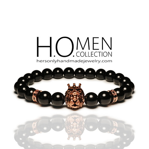 Rose Gold Leo Men bracelet