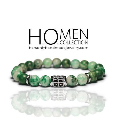 Qinghai Jade Jasper Men bracelet