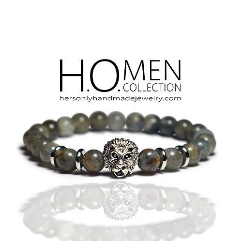 Grey Leo men bracelet