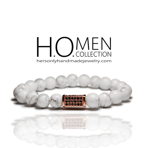 Rose gold Snow - Men bracelet