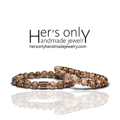 Medical Stone Jasper Couple bracelet