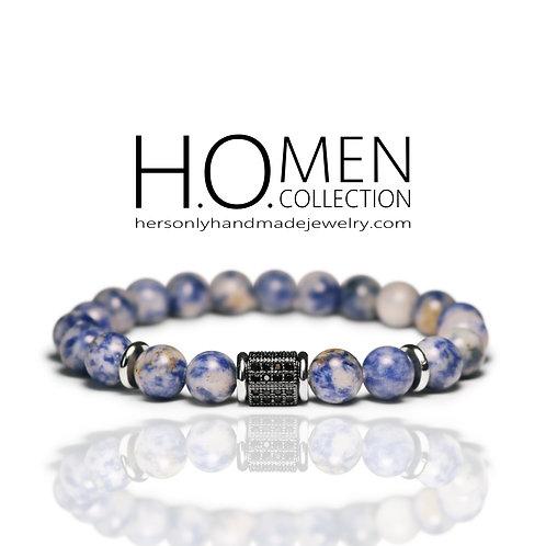 Blue Spot Jasper Men bracelet