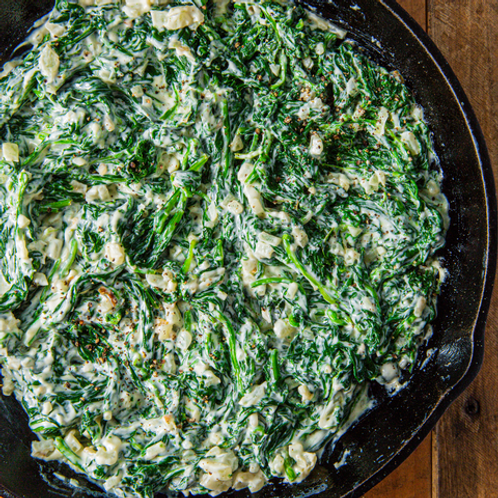 Garlic Creamed Spinach - Steak Box Side